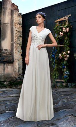 Шелковое свадебное платье Ампир