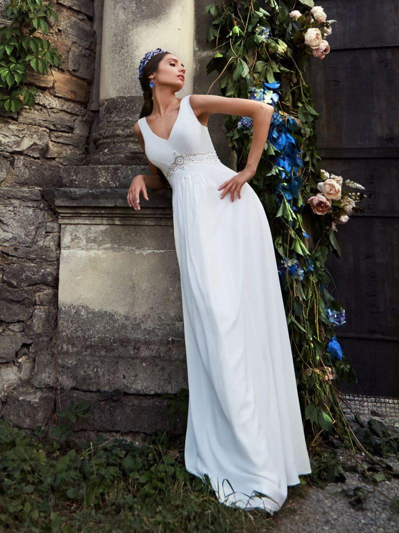 ▶▶Изысканное свадебное платье прямого кроя с бисером под лифом. ❤ Более 10000 платьев! ❤ Скидки до 70%! ❤ Подарки невестам! ☎ +7 495 724 26 05 ▶▶ Свадебный центр Вега Ⓜ Петровско-Разумовская