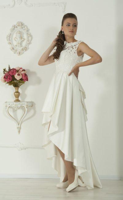 Платье короткое спереди