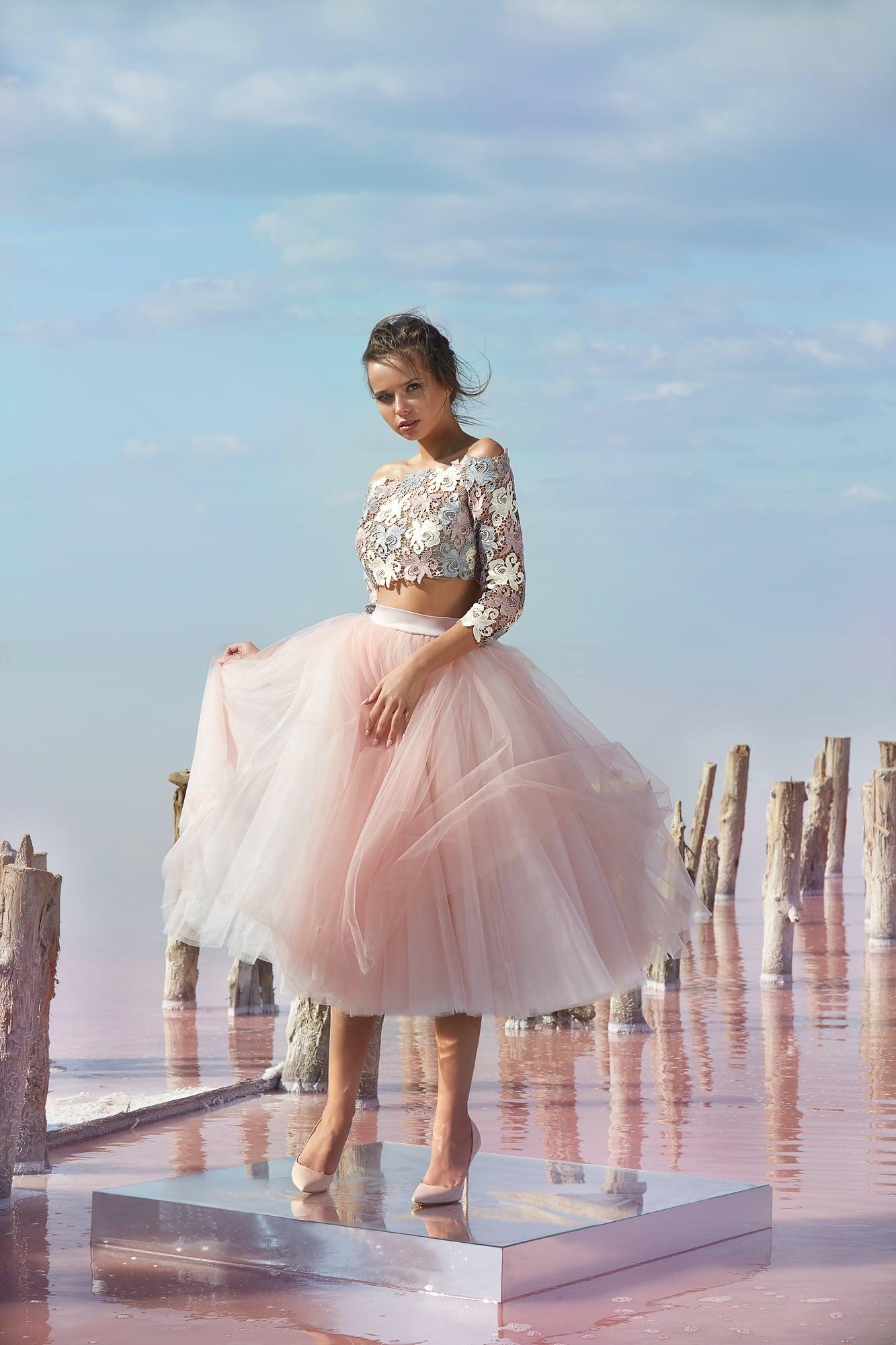 Розовое раздельное платье Armonia Моно. Купить вечернее платье в ... f27c819456a