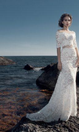Свадебное платье crop-top