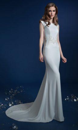 Простое свадебное платье