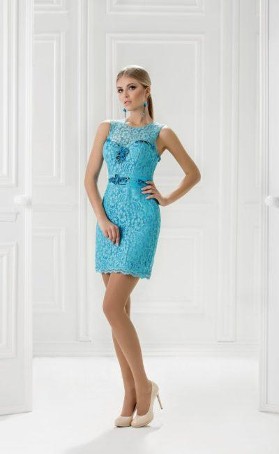 Коктельное закрытое платье