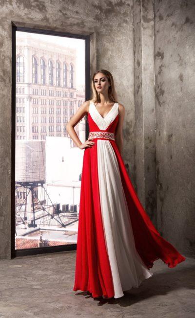 красно-белое платье недорогое женское