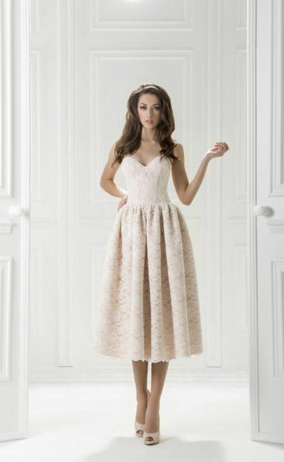 Платье белое миди