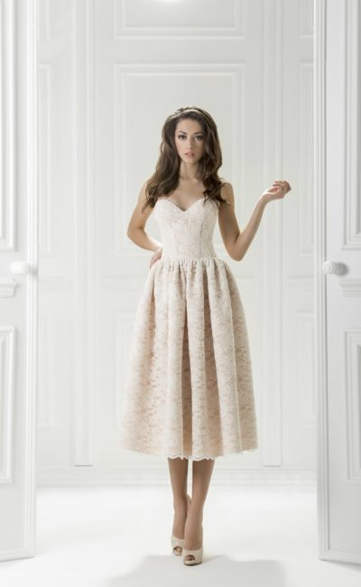 0338cd45b68 Платье белое миди Жюли