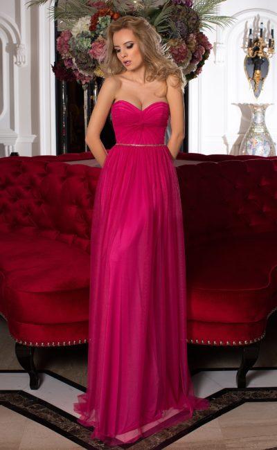 Выпускное прямое платье
