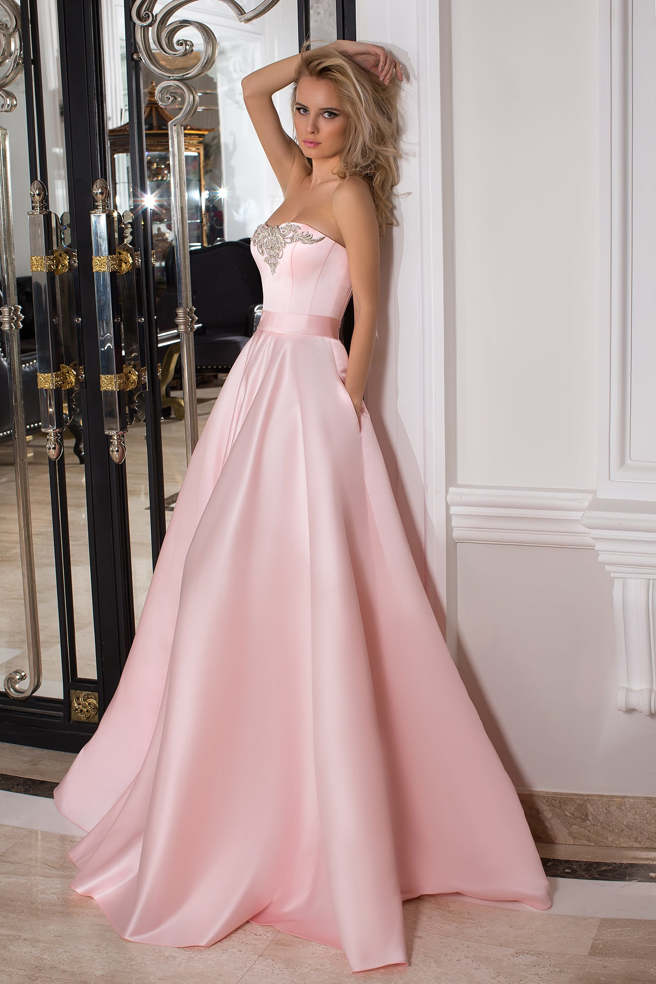 03f2df33015 Розовое платье для выпускного Oksana Mukha 16-1010. Купить вечернее ...