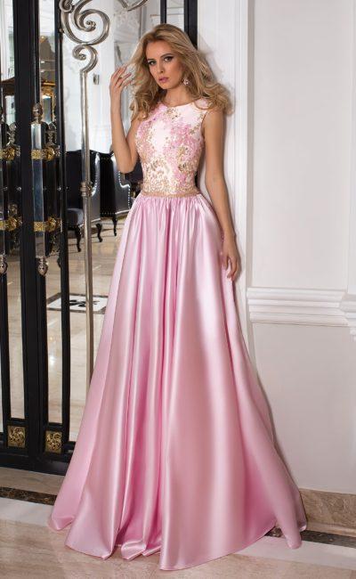 Выпускное розовое платье