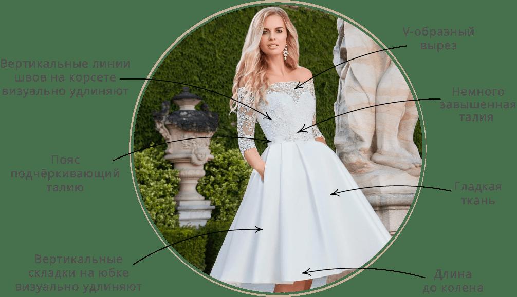 75fee491e89f358 В наших салонах представлены разнообразные свадебные платья на маленький  рост, а в статье собраны фото и советы, как лучше выбрать такой наряд, ...