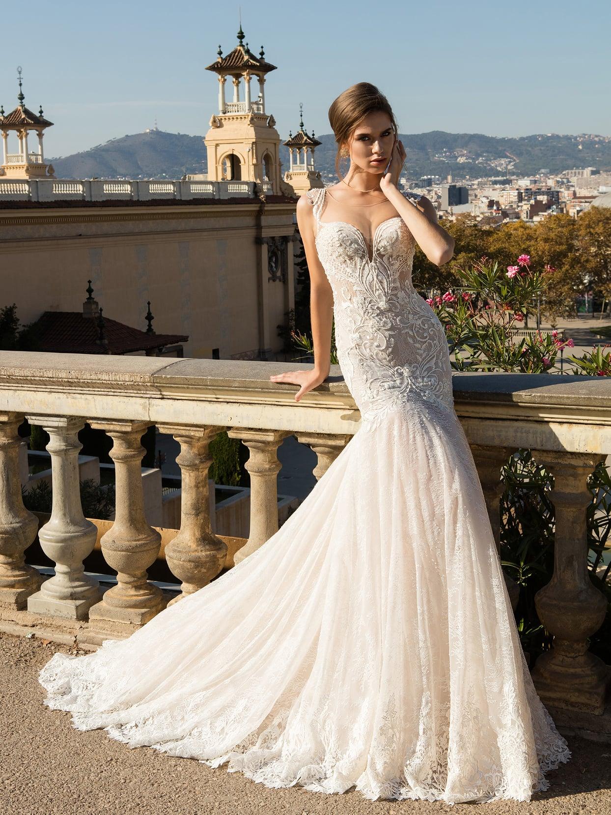 Свадебные платья форме рыбки