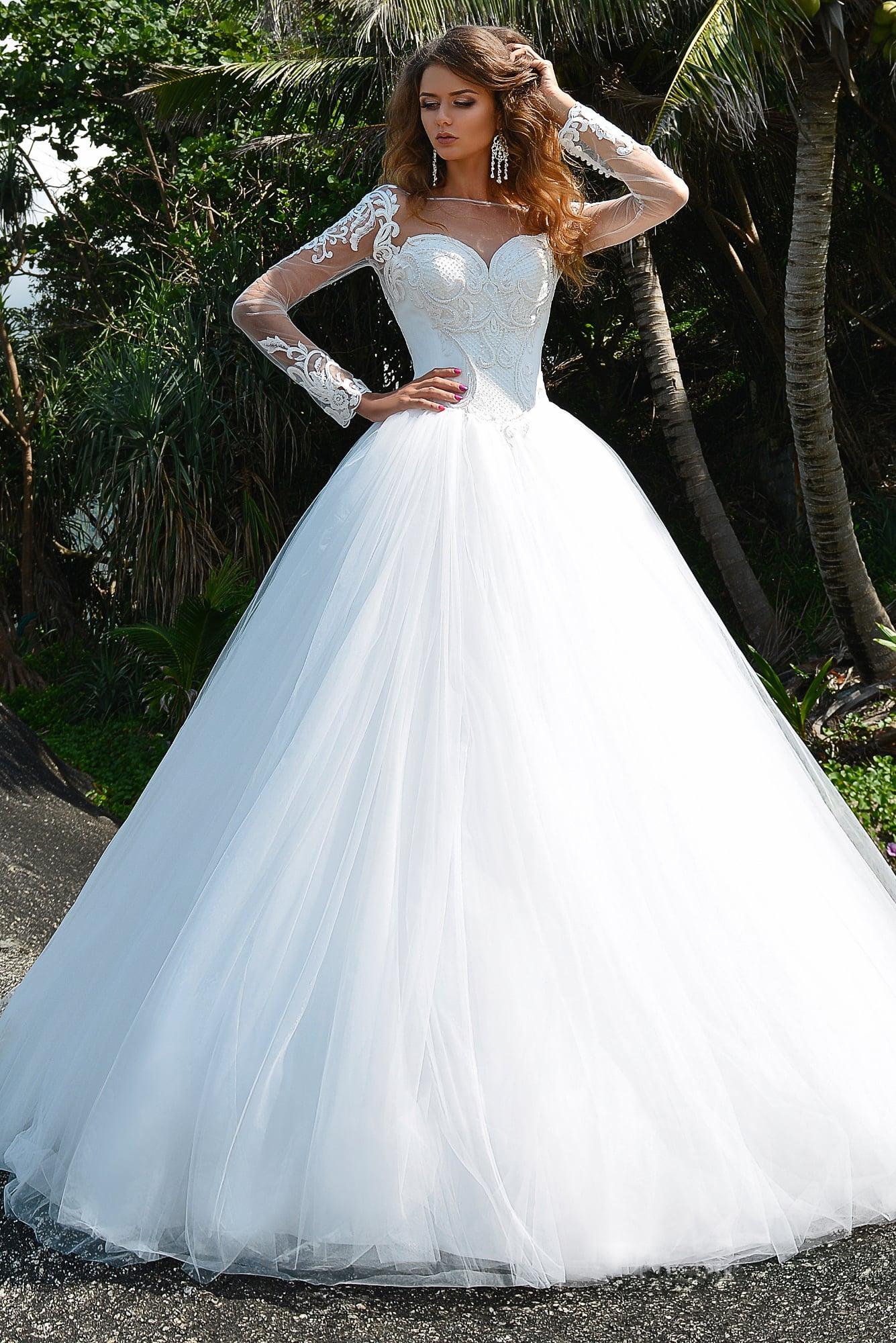Свадебное платье низ фатин