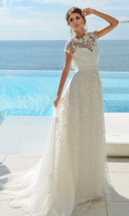Свадебное платье в стиле рустик