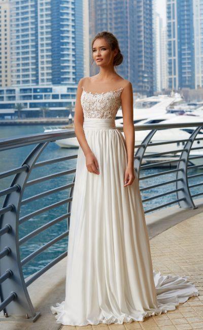 Свадебное платье колонна