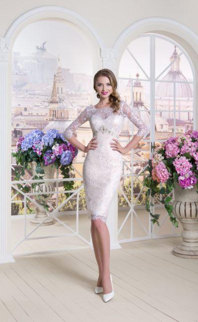 Свадебное платье до колена
