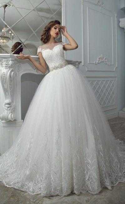 свадебное платье в бальном силуэте