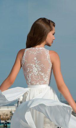 Короткое пляжное свадебное платье