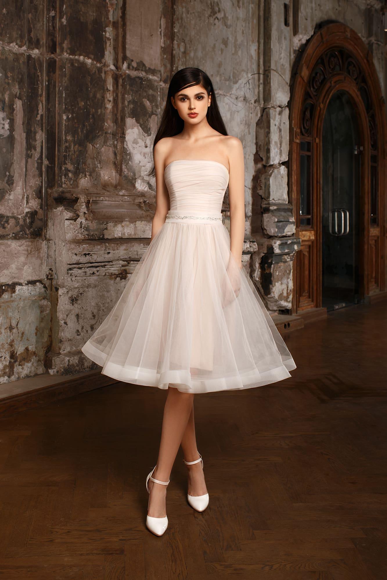 Юбка по колено свадебное платье