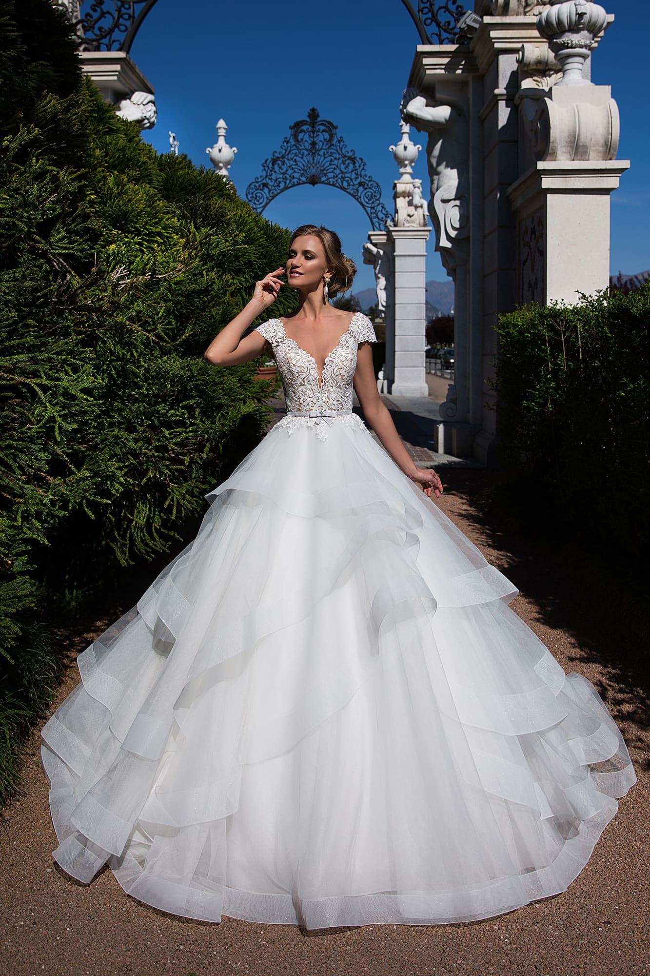 Купить Свадебное Платье С Кружевным Рукавом