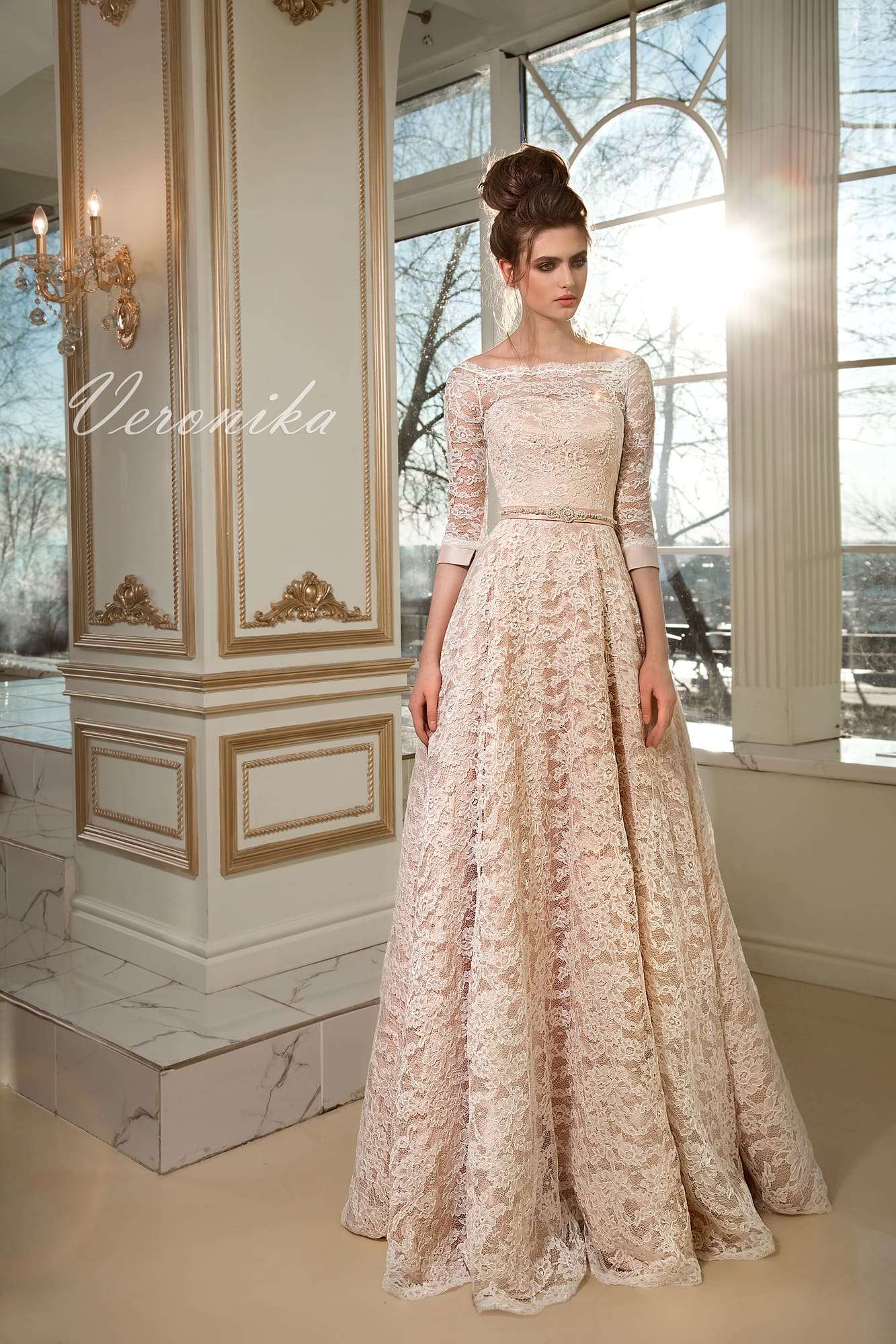 da882365ce1 Закрытое платье с рукавом 1 2 Nina Kimoli Veronika. Купить свадебное ...