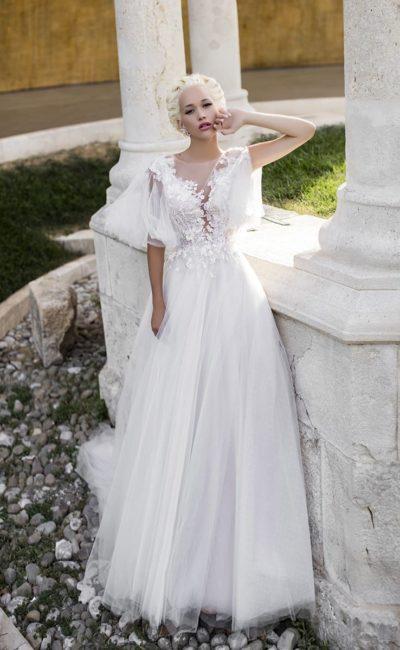 Платье ретро с широкими рукавами