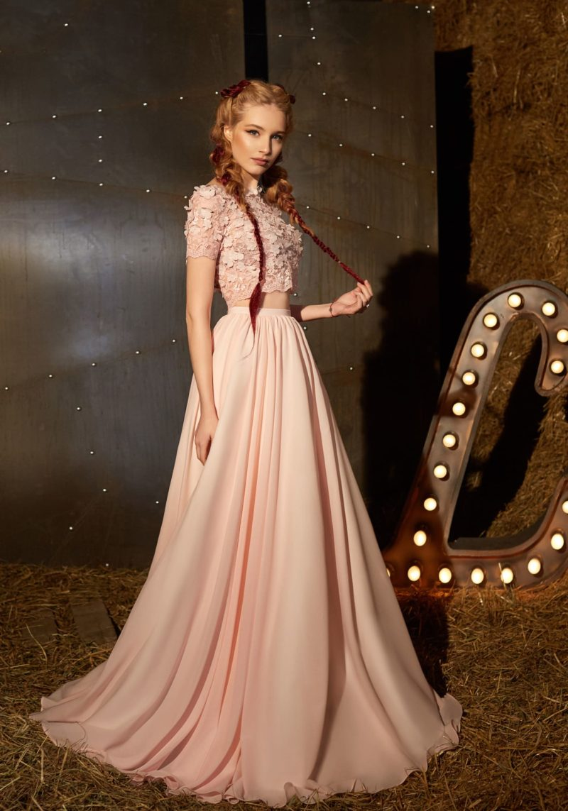 Нарядное женское платье с топом
