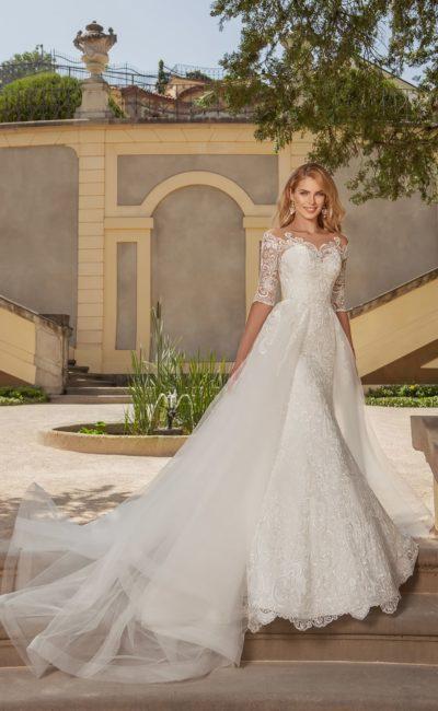 Свадебное платье с отстегивающейся юбкой