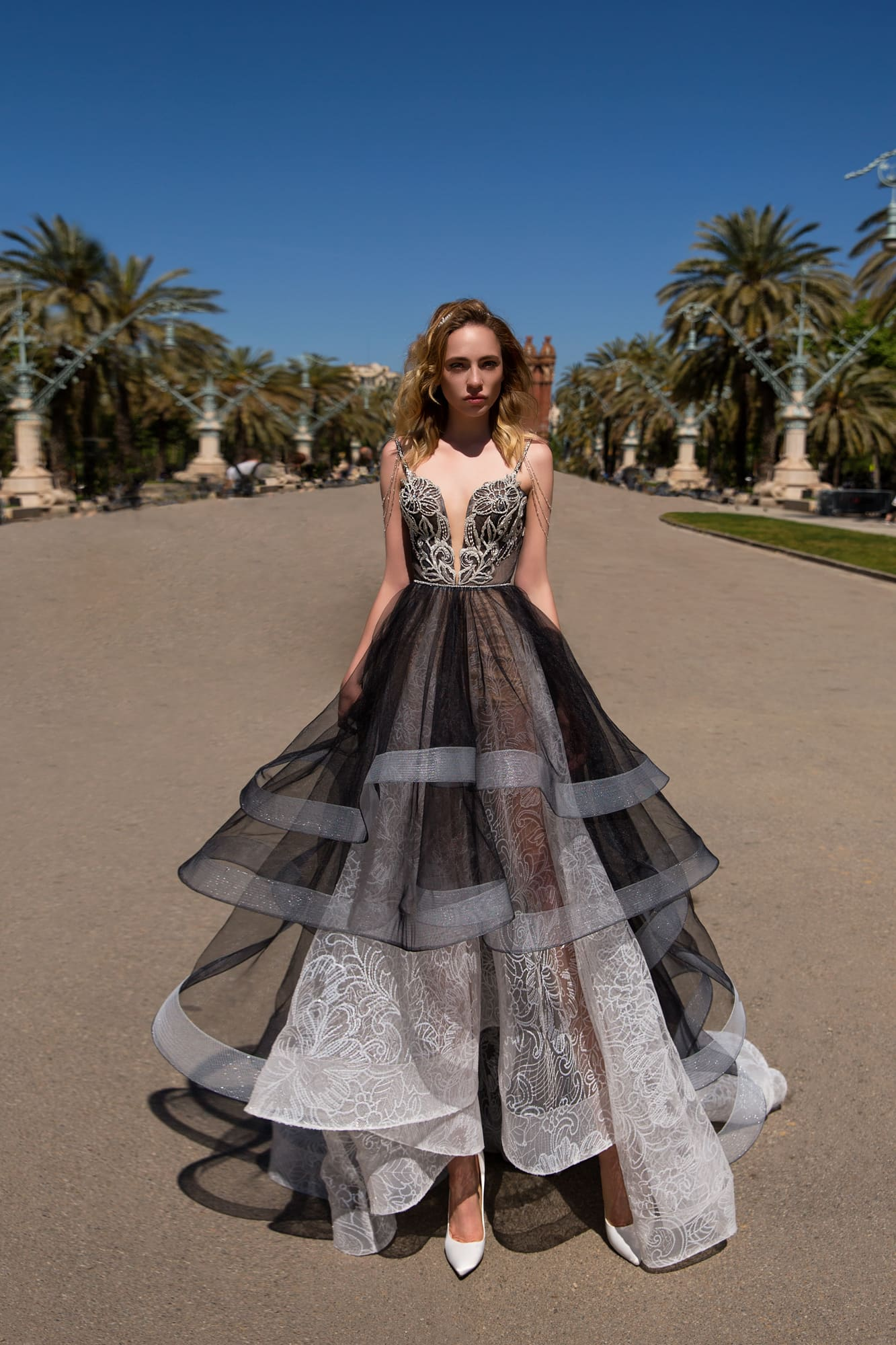 05e78db8114 Необычное вечернее платье Pollardi Rambla. Купить вечернее платье в ...