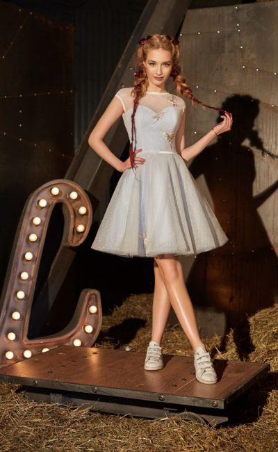 Коктейльное короткое платье