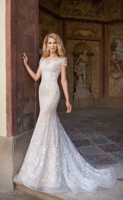 Платье русалка с коротким рукавом