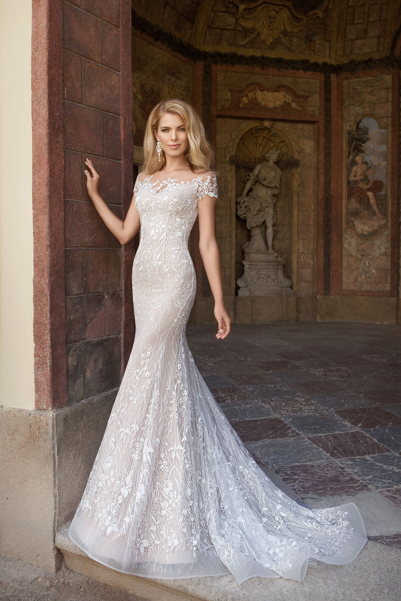 5e9927b3e78 Платье русалка с коротким рукавом Eva Grandes Versavia. Купить ...