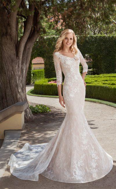 Кружевное платье русалка с рукавами