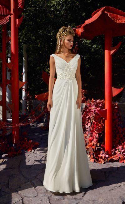 Модное свадебное платье в греческом стиле 2019 2019 в 2019 году