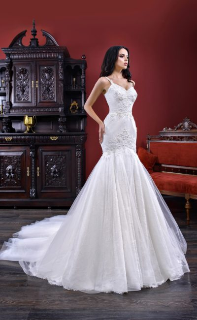 Длинное платье русалка