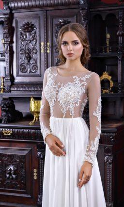 Прямое прозрачное платье