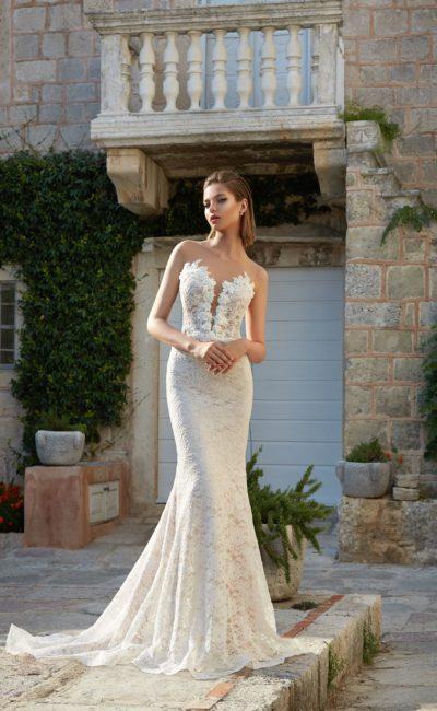 Свадебное полностью кружевное платье