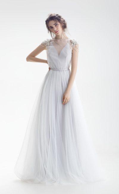 Свадебное нежно-голубое платье