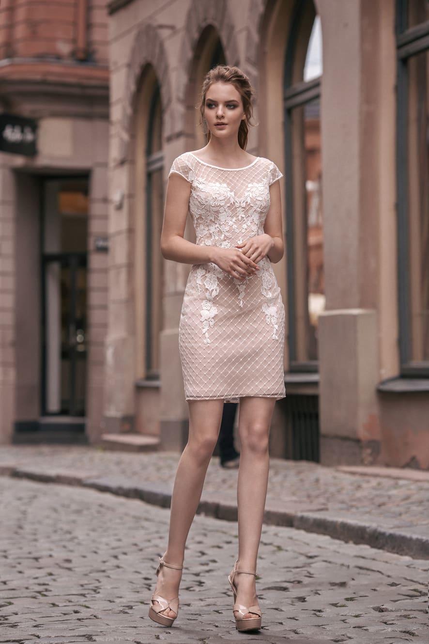 db36cf965d5 Короткое кружевное платье Milva Jude. Купить свадебное платье в ...