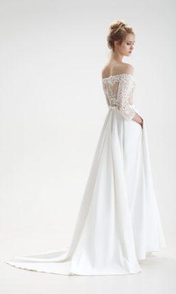 Стильное свадебное платье с сеткой