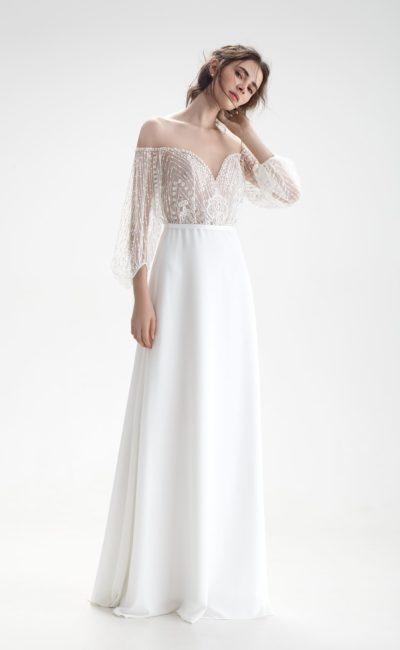 Свадебное платье в «богемном» стиле