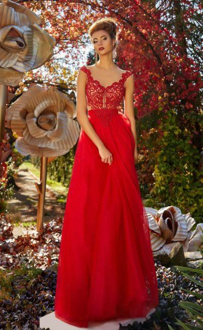 838e05eff1d Красное платье в пол damla