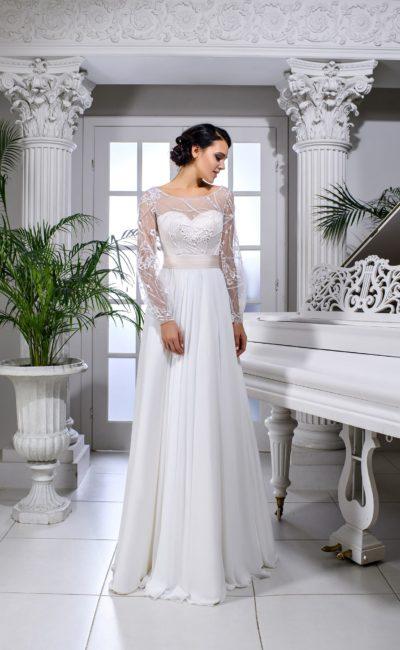 Свадебное платье с длинным рукавом