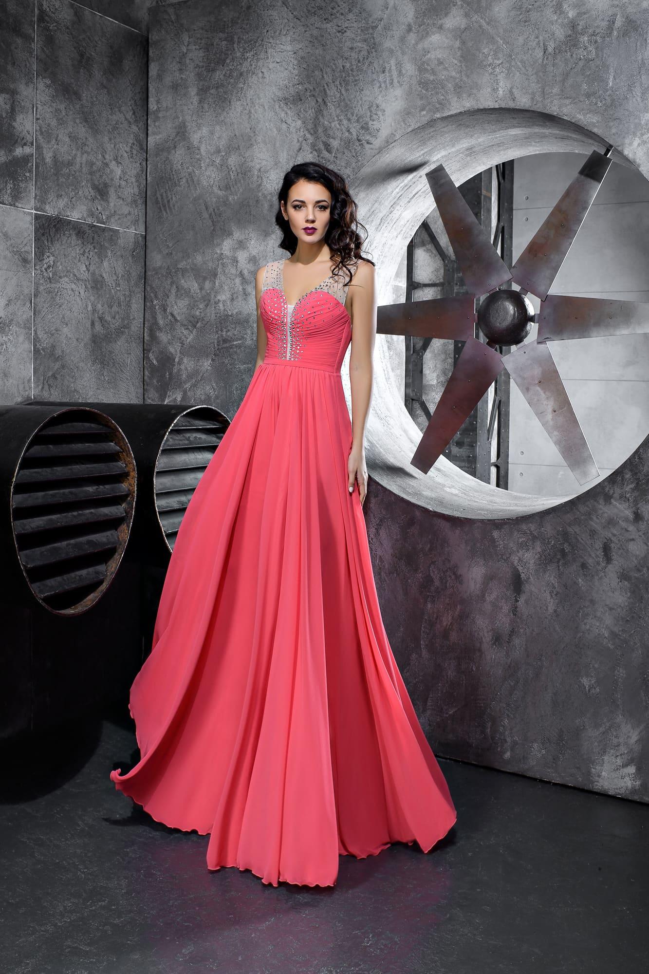1ddaea9b531bf1f Розовое длинное платье Kira Nova Мирослава. Купить вечернее платье в ...