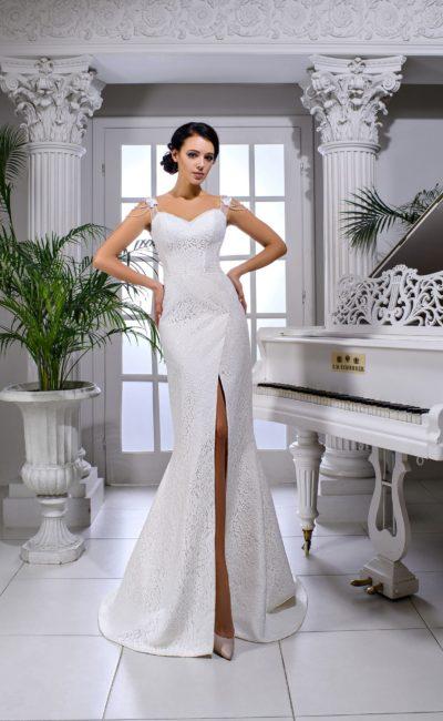 Платье русалка с разрезом