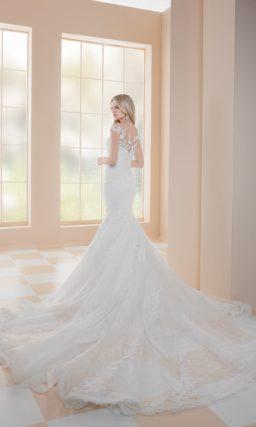 Платье русалка с длинным шлейфом