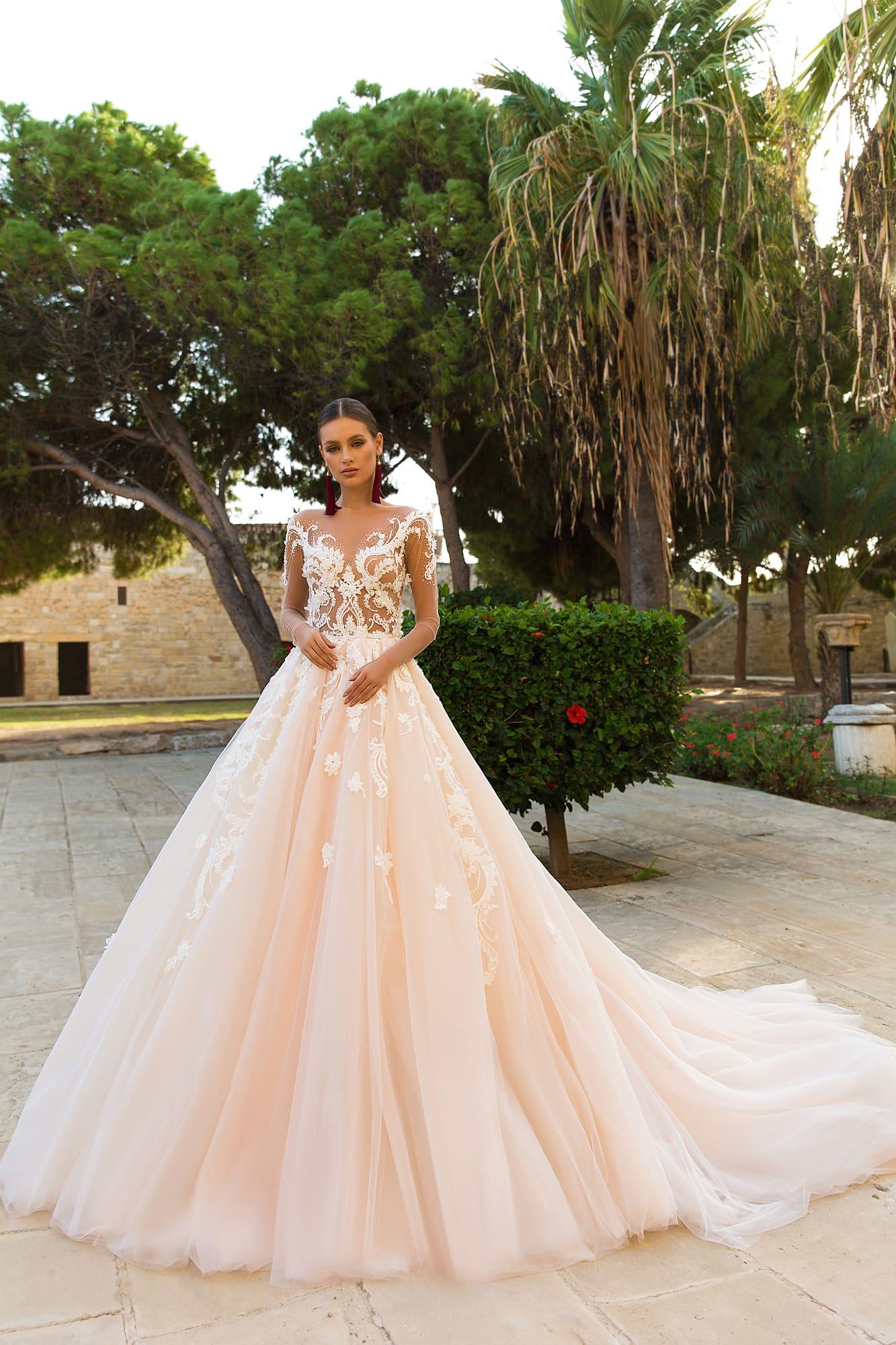 Свадебное платье с рукавами кружево купить