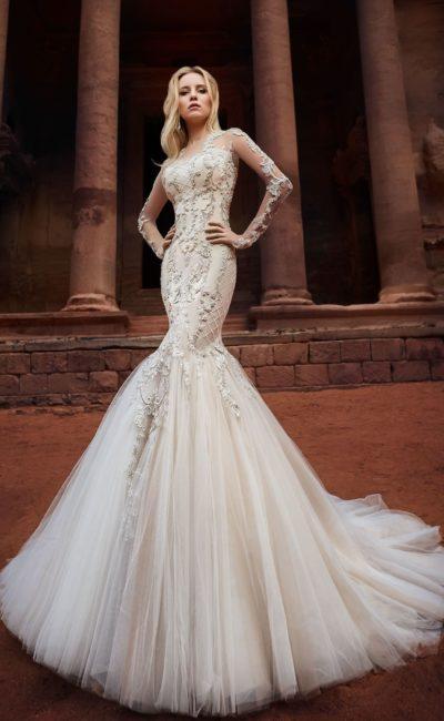 Расшитое платье «рыбка»