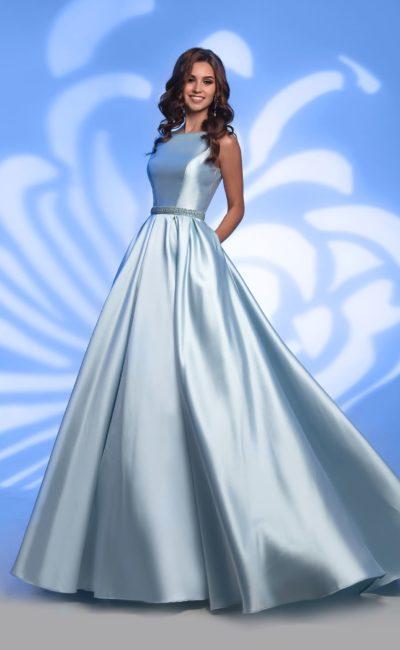 Голубое платье для выпускного