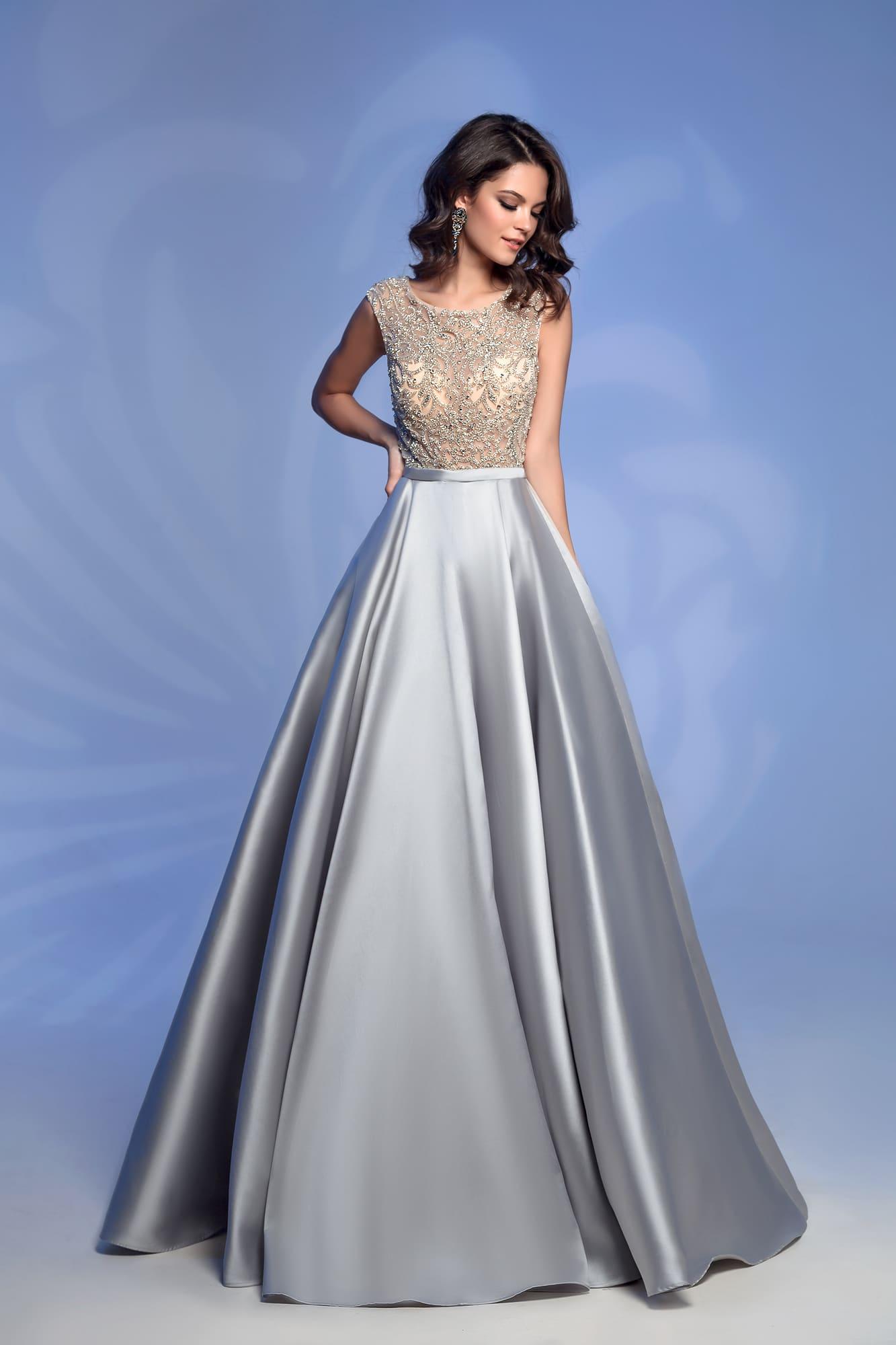 c0d61fcb8a6a9f2 Вечернее платье Nora Naviano 32362D grey. Купить вечернее платье в ...