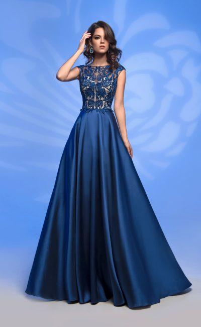 08c553aece4 Вечернее платье для гостьи на свадьбе 51564 navy